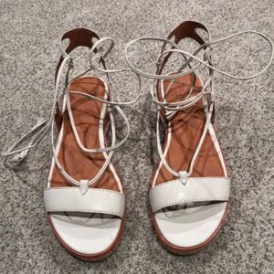 NWOT white Frye Miranda gladiator sandals mint